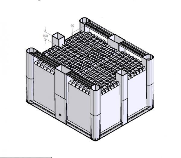 Kaubaaluste kast 1200x1000x740
