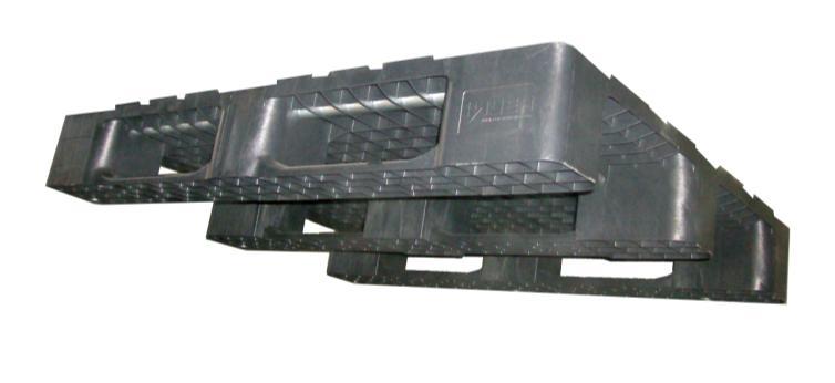 Plastist kaubaalus 1200x800x152, 1500/2500 kg