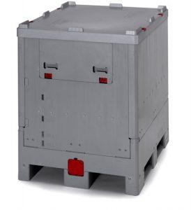 Kokkupandav IBC-konteiner avaneva seinaga, 1000 l
