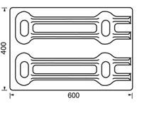 Presspuidust alused 400x600, 250 kg